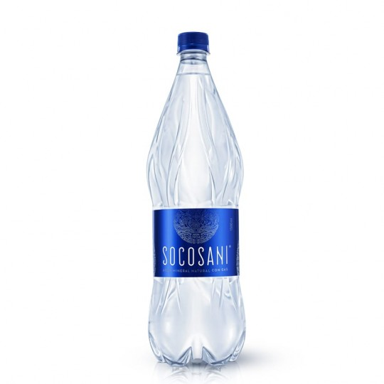 Socosani agua mineral natural con gas 1500ml x 6