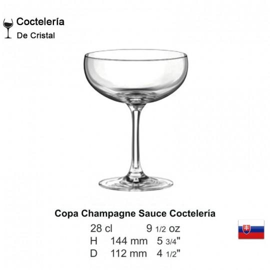 Copa Champagne Sauce Coctelería 9 1/2 oz