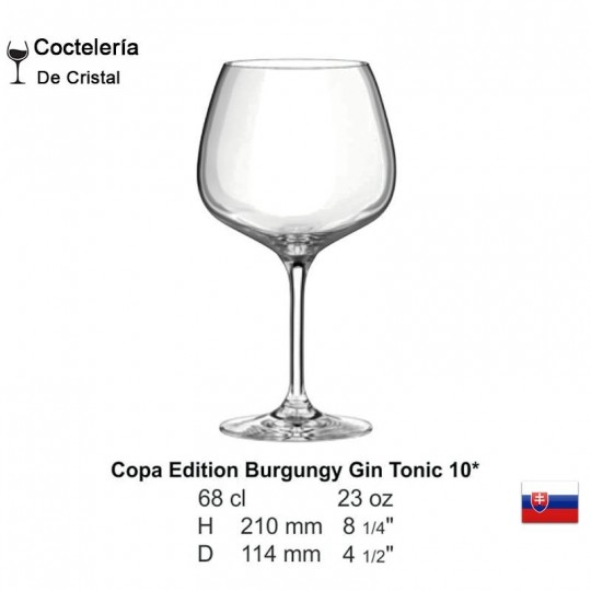 Copa Edition Burgundy Gin Tonic 23 oz
