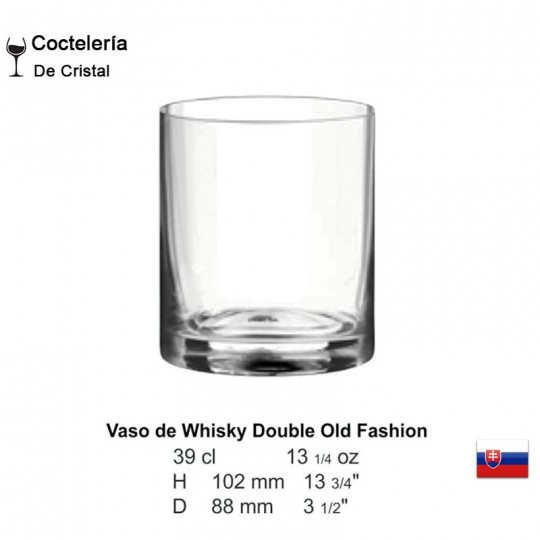 Vaso de Whisky Double Old Fashion 13 1/4 oz