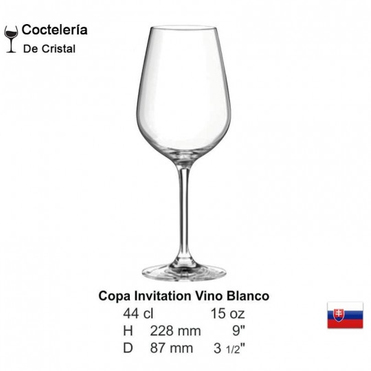 Copa Invitation Vino Blanco 15oz