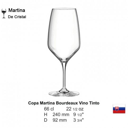 Copa Martina Bourdeaux Vino Tinto 22 1/2 oz