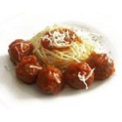 Pastas con Albondigas y Tomate
